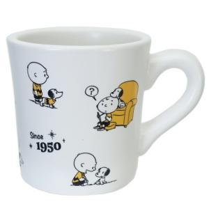 磁器製 アニバーサリー マグ マグカップ スヌーピー 70周年記念 ホワイト 金正陶器 ピーナッツ|velkommen