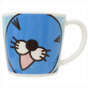 フェイスマグ マグカップ ぼのぼの ブルー 金正陶器 かわいい|velkommen