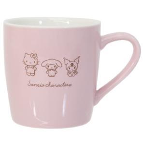 磁器製 シンプル マグ マグカップ ピンク サンリオキャラクターズ サンリオ クラックス プレゼント キャラクター|velkommen