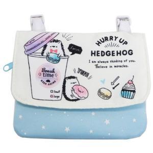 ポシェット ポケット HURRY UP HEDGEHOG 2019年新入学雑貨 クリップ ポーチ クラックス 14×11cm 女の子向け|velkommen