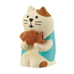 旅猫 三毛猫 たいやき concombre マスコット デコレ インテリア プレゼント かわいい velkommen