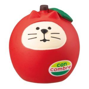 フルーツ猫だるま フルーツパーラー マスコット concombre りんご デコレ インテリア プレゼント velkommen