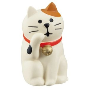 旅猫 毛づくろい猫 マスコット concombre デコレ インテリア プレゼント かわいい velkommen