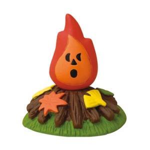 落ち葉の焚き火 マスコット concombre いもくりこんこん みのりの秋 デコレ velkommen