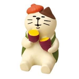 焼き芋猫 マスコット いもくりこんこん みのりの秋 concombre デコレ velkommen