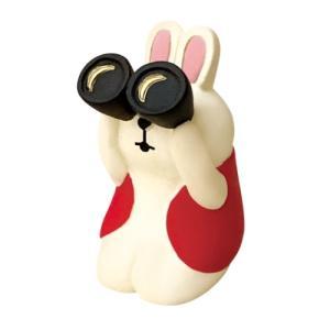 双眼鏡うさぎ お月見 満月だんらん マスコット デコレ concombre インテリア プレゼント かわいい velkommen