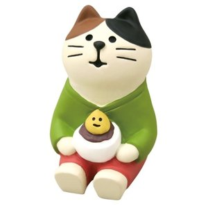 マスコット 月見大福猫 concombre お月見 竹の湯温泉 月夜のおもてなし デコレ インテリア velkommen