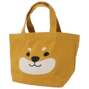 柴田さんの住む東京わさび町 帆布 ミニトート 柴犬 ランチバッグ しばたさんアップ BE FRIENDSHILL velkommen