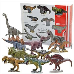 ミニフィギュア ミニモデル10体ギフトボックスセット ダイナソー フェバリット 恐竜 ギフト雑貨 プレゼント キャラクター|velkommen