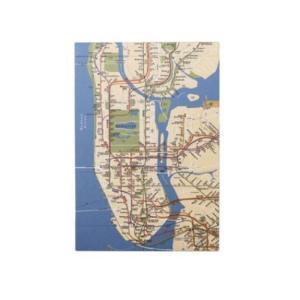 ブロック メモ State of New York MTA メモ帳 Map グリーンフラッシュ ニュ...
