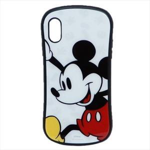 iPhone XR ケース アイフォン ハイブリッド ガラス ケース ディズニー ミッキーマウス グルマンディーズ カード ポケット付き スマホ アクセサリー|velkommen