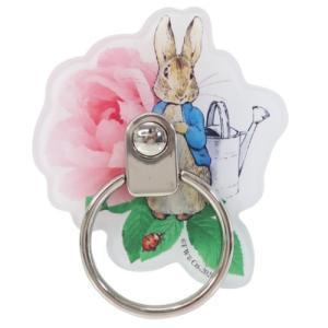 スマホリング ダイカット マルチリング ピーターラビット Peter Rabbit グルマンディーズ スマホスタンド 絵本キャラクター|velkommen