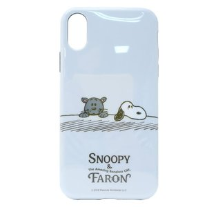 iPhone XR ケース アイフォン XR ソフトカバー SNOOPY&ファーロン スヌーピー ピーナッツ グルマンディーズ|velkommen
