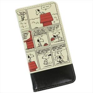 アイフォン8 手帳型 フリップカバー iPhone 8 ケース スヌーピー コミック ピーナッツ グルマンディーズ アイフォーン8 7 6s 6兼用 velkommen