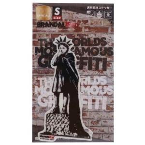 ダイカット クリア ステッカー ビッグ シール バンクシー Banksy Liberty Girl ゼネラルステッカー 耐水耐光仕様 ART|velkommen