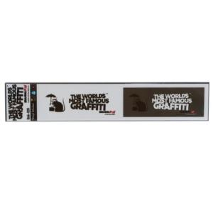 ミシン目カット 2pcs ステッカー ビッグ シール Banksy バンクシー Umbrella Rat ゼネラルステッカー|velkommen
