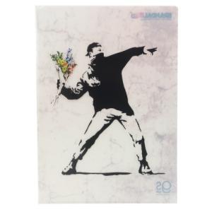 A4 シングル クリアファイル ファイル バンクシー Flower Bomber ゼネラルステッカー Banksy プレゼント 文具 コレクション おしゃれ|velkommen