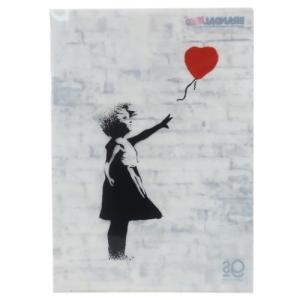 A4 シングル クリアファイル ファイル バンクシー Balloon Girl Banksy ゼネラルステッカー プレゼント 文具 コレクション おしゃれ ART オフィシャル|velkommen