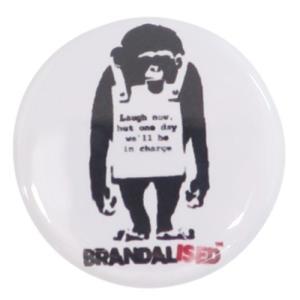 缶バッジ 22mm 豆 缶バッジ バンクシー Do Nothing-Monkeysign ゼネラルステッカー Banksy カンバッジ コレクション雑貨|velkommen