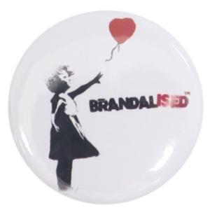 22mm 豆 缶バッジ 缶バッジ バンクシー Balloon Girl Banksy ゼネラルステッカー カンバッジ コレクション雑貨 ART オフィシャル|velkommen