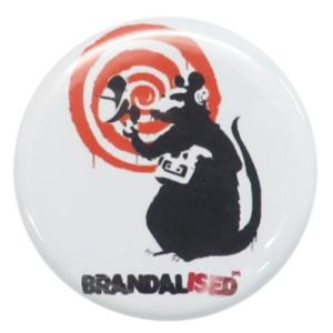 22mm 豆 缶バッジ 缶バッジ バンクシー Banksy Radar Rat ゼネラルステッカー|velkommen