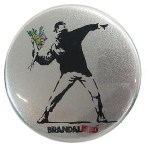 缶バッジ 44mm カンバッジ バンクシー Flower Bomber Banksy ゼネラルステッカー コレクション雑貨|velkommen