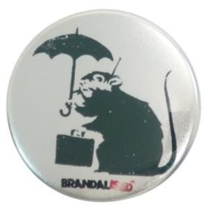 缶バッジ 44mm カンバッジ Banksy バンクシー Umbrella Rat ゼネラルステッカー|velkommen