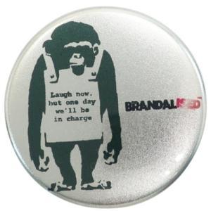 缶バッジ 44mm カンバッジ バンクシー Banksy Do Nothing-Monkeysign ゼネラルステッカー|velkommen