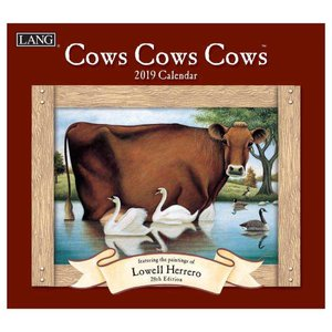 カレンダー 2019 ラング LANG 壁掛け COWS COWS COWS Lowell Herrero カントリー うし|velkommen