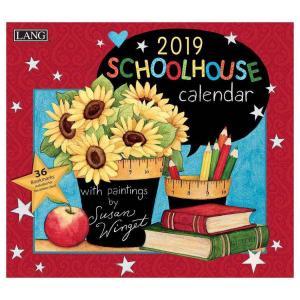 LANG ラング製 2019年 カレンダー アート Susan Winget SCHOOLHOUSE カントリー カラフル velkommen