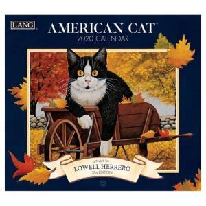 ラング製 LANG 猫 カレンダー 2020年 AMERICAN CAT Lowell Herrero|velkommen