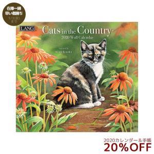 猫 カレンダー 2020年 ラング LANG CATS IN THE COUNTRY Susan Bourdet 340×610mm カントリー ネコ|velkommen
