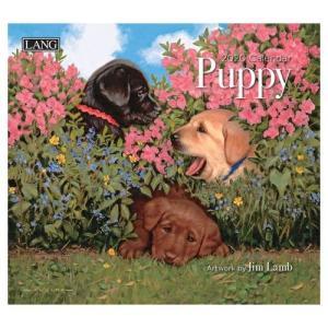 犬 カレンダー 2020年 ラング 製 LANG PUPPY Jim Lamb 340×610mm|velkommen