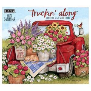 ラング LANG 海外 2020 カレンダー Susan Winget TRUCKIN ALONG 340×610mm カントリー 風景|velkommen
