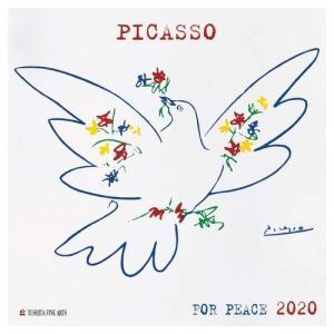 2020年 カレンダー アートカレンダー 壁掛け PABLO PICASSO ピカソ TUSHITA 海外 アート 輸入カレンダー 300×600mm|velkommen
