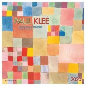 アートカレンダー 壁掛け 2020年 カレンダー パウルクレー PAUL KLEE Rectangular Colours TUSHITA 海外 アート 輸入カレンダー 300×600mm 絵画 名画 velkommen