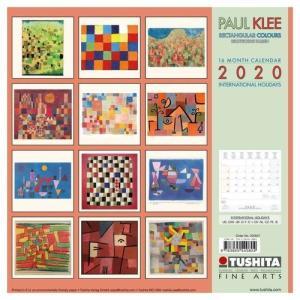 アートカレンダー 壁掛け 2020年 カレンダー パウルクレー PAUL KLEE Rectangular Colours TUSHITA 海外 アート 輸入カレンダー 300×600mm 絵画 名画 velkommen 02