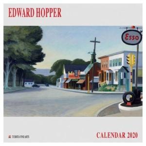 アートカレンダー 壁掛け 2020年 カレンダー EDWARD HOPPER エドワードホッパー TUSHITA 海外 アート 輸入カレンダー 300×600mm 絵画 名画|velkommen