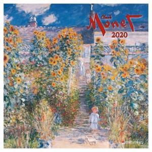 アートカレンダー 壁掛け 2020年 カレンダー クロードモネ TUSHITA MONET 海外 アート 輸入カレンダー|velkommen