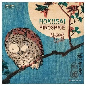 アートカレンダー 壁掛け 2020年 カレンダー 葛飾北斎 歌川広重 HOKUSAI HIROSHIGE Nature TUSHITA 海外 アート 輸入カレンダー 300×600mm|velkommen