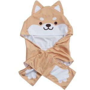 夏用 ひんやり キッズ クールタオル 茶柴 フード付き 冷感タオル  犬飼タオル 熱中症対策 velkommen