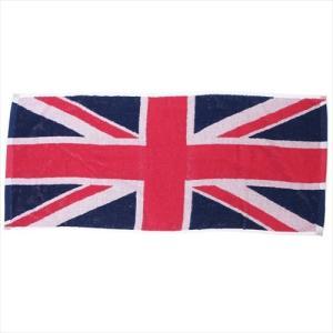 フェイスタオル ジャガードロングタオル ユニオンジャック イギリス国旗 犬飼タオル 34×80cm ギフト雑貨 velkommen