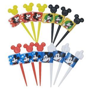 ミッキーマウス ランチピックス 12本セット ディズニー キャラ弁 雑貨 キャラクター グッズ スケーター 4種 各3本 velkommen