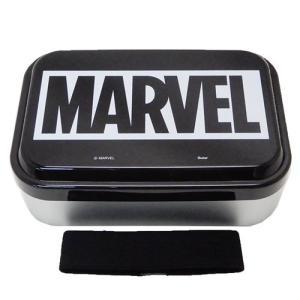 お弁当箱 ふわっと アルミ メンズ ランチボックス MARVEL BOXロゴ ブラック マーベル スケーター 870ml|velkommen
