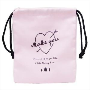 巾着袋 マチ付き巾着 2019年 新入学 新学期準備 MAKE YOU カミオジャパン 21×18×7cm|velkommen