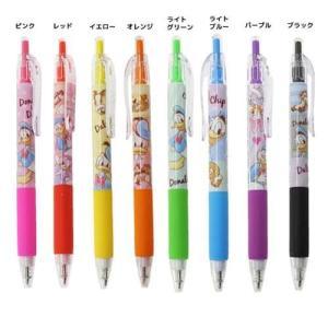 ノック式カラーゲルペン カラーペン ドナルド&デイジー カミオジャパン ディズニー 可愛い ボールペン|velkommen