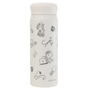 保温保冷 水筒 ステンレスボトル L スヌーピー ピーナッツ SWEET HOME カミオジャパン|velkommen