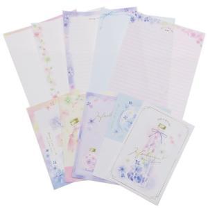 手紙セット レターセット スカイサークレイパー NICE DAY HERBARIUM カミオジャパン 便箋 封筒 メッセージ|velkommen