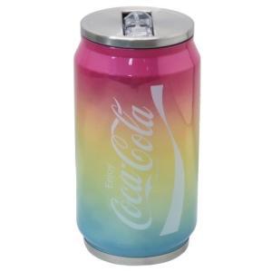 保冷 水筒 缶型 真空 断熱 マグボトル コカコーラ レインボー CocaCola カミオジャパン velkommen