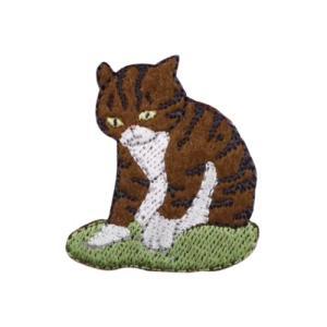 ワッペン 気ままなポーズの猫ワッペン ネコ8 清原 ねこ 手芸用品 アイロン接着 シール velkommen